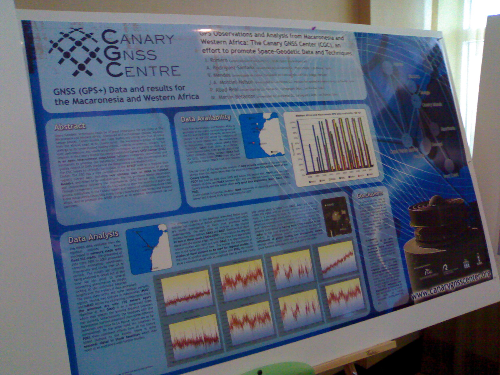CGC poster at the 2008 IGS WS